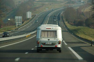 caravane sur la route