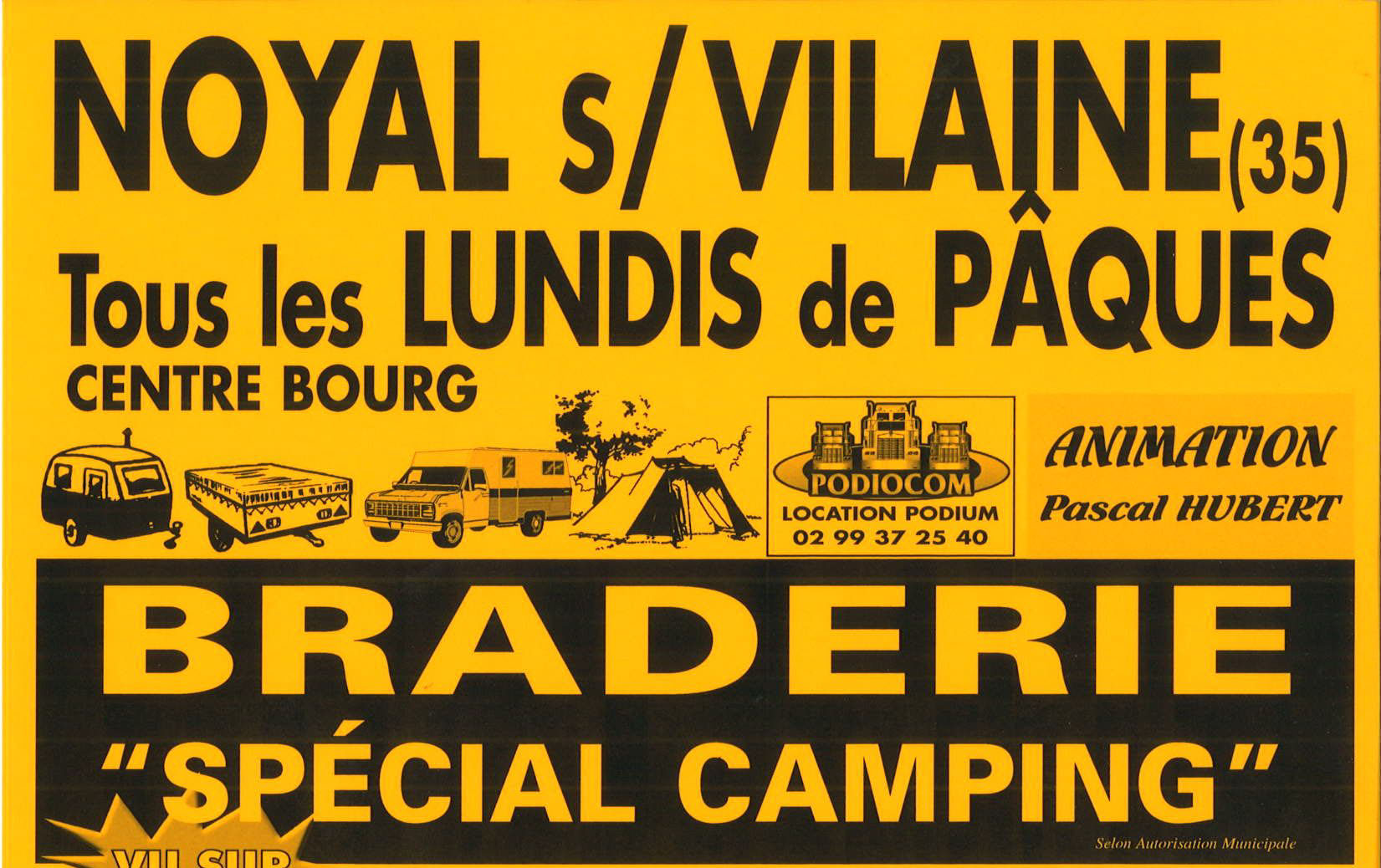 affiche braderie camping 2011